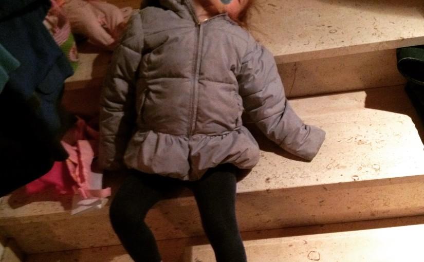 Treppenschlaf